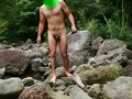 渓流全裸露出オナニー (全員公開版)
